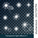 vector glowing stars  lights... | Shutterstock .eps vector #241724794