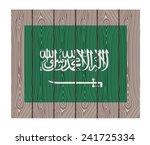flag of saudi arabia. vector... | Shutterstock .eps vector #241725334