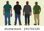 black men in baseball caps... | Shutterstock .eps vector #241732120