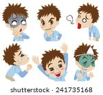 exaggerated young man | Shutterstock .eps vector #241735168