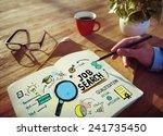 businessman job search designer ... | Shutterstock . vector #241735450