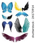 many coloured wings' set | Shutterstock .eps vector #24173914