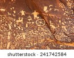 Petroglyphs Or Rock Carving On...