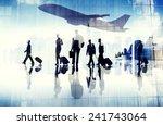 airport travel business people... | Shutterstock . vector #241743064