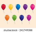 collection of colorful balloons | Shutterstock . vector #241749388