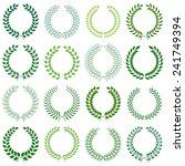 collection of laurel wreaths | Shutterstock . vector #241749394