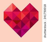 geometric heart | Shutterstock . vector #241750018