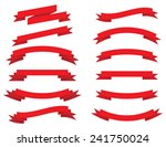 collection of red ribbons | Shutterstock . vector #241750024