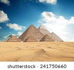 pyramids in giza  | Shutterstock . vector #241750660