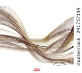 abstract bronze line brown wave ... | Shutterstock .eps vector #241757119