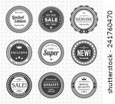 vintage labels template set. ... | Shutterstock .eps vector #241760470