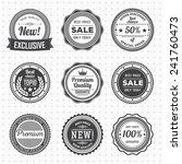vintage labels template set. ... | Shutterstock .eps vector #241760473