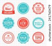 vintage labels template set. ... | Shutterstock .eps vector #241760479