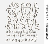 alphabet hand drawing classic... | Shutterstock .eps vector #241763818