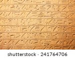 egyptian hieroglyphs on the wall | Shutterstock . vector #241764706