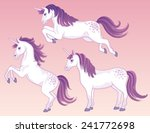 a set of three white cartoon... | Shutterstock .eps vector #241772698