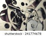Watch Mechanism Macro Shot