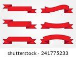 red ribbon banner set.vector... | Shutterstock .eps vector #241775233