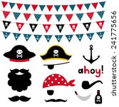 pirate photo booth props and... | Shutterstock .eps vector #241775656