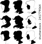 women profiles silhouettes  ... | Shutterstock .eps vector #241779064