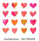 collection of hearts in... | Shutterstock .eps vector #241780498