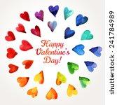 Watercolor Happy Valentines Da...
