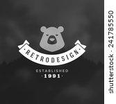 retro vintage insignia or... | Shutterstock .eps vector #241785550