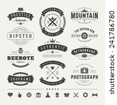 retro vintage insignias or... | Shutterstock .eps vector #241786780