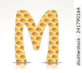 the letter m of the alphabet... | Shutterstock .eps vector #241790164