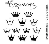 king icon set. vector... | Shutterstock .eps vector #241794886