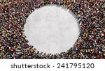 large group of people seen from ... | Shutterstock . vector #241795120
