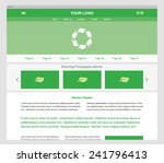 green modern responsive website ...