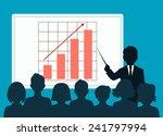 people speaking before an... | Shutterstock .eps vector #241797994