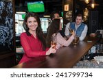 perfect beer party. portrait of ... | Shutterstock . vector #241799734