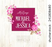 marriage invitation card with... | Shutterstock .eps vector #241808680