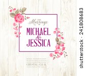 marriage invitation card with... | Shutterstock .eps vector #241808683