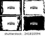 grunge frame set texture  ... | Shutterstock .eps vector #241810594