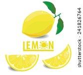 illustration lemon fruits on... | Shutterstock .eps vector #241826764