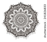 ornament beautiful card with...   Shutterstock .eps vector #241826833