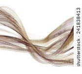abstract bronze line brown wave ... | Shutterstock . vector #241838413