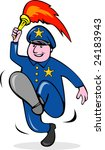 police officer carrying a torch | Shutterstock . vector #24183943