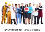 group of workers people.... | Shutterstock . vector #241844089