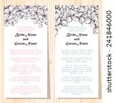 wedding invitation cards with... | Shutterstock .eps vector #241846000
