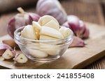 Peeled Garlic  Close Up Shot ...