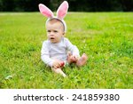 adorable funny baby boy with... | Shutterstock . vector #241859380