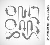 set of arrow icons  | Shutterstock . vector #241865293