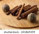 cinnamon sticks and tea flower... | Shutterstock . vector #241865359