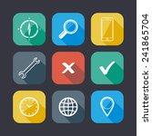 set of application web icons....