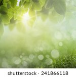 eco nature   green and blue... | Shutterstock . vector #241866118