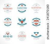 happy valentine's day greetings ... | Shutterstock .eps vector #241870180